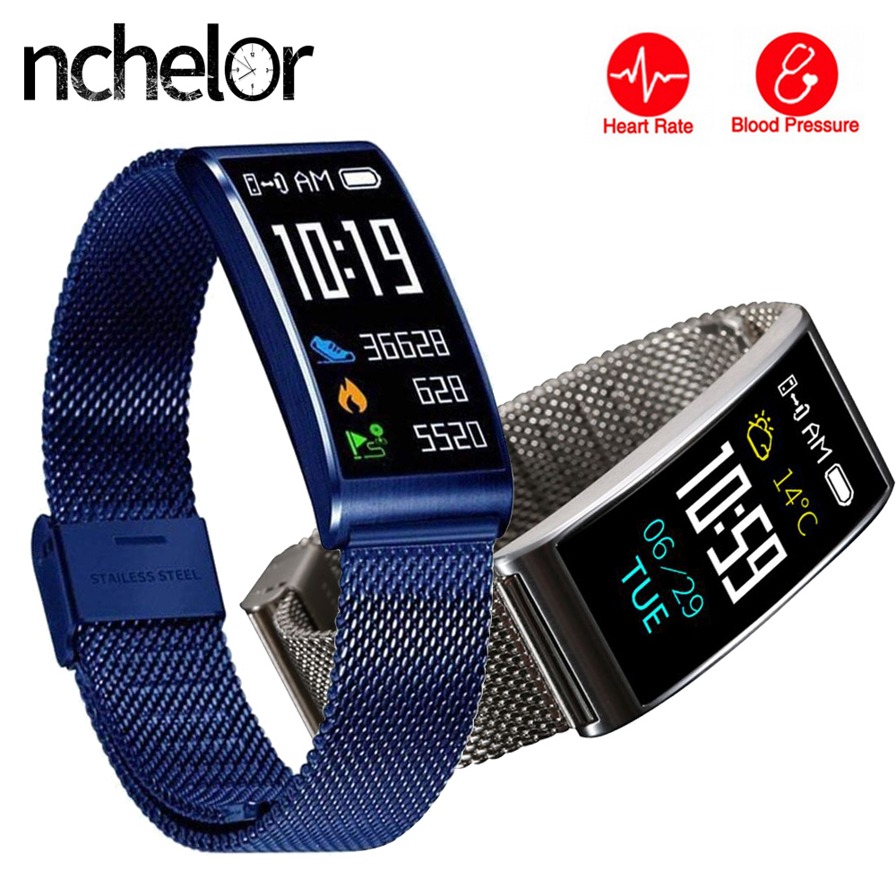 Fashion Casual Smart Band Heart Rate Blood Pressure Monitor Fitness Tracker Bracelet IP68 Waterproof Pedometer for Android IOS smart bracelet color screen blood pressure waterproof ip68 fitness tracker heart rate monitor smart band for android ios