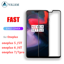 VALAM Full Glue Tempered Glass Screen Protector For Oneplus 6 6T 5 5T Cover Full Body Oneplus 7 oneplus 7 pro Protective Glass