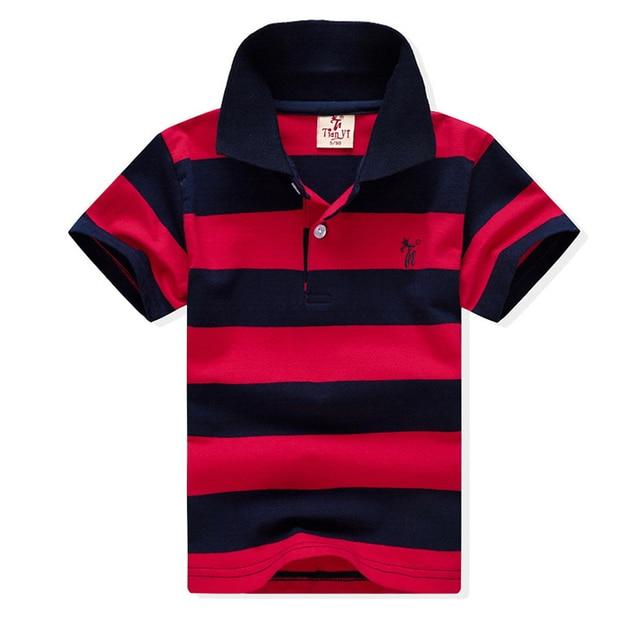 1-12Yrs תינוק בנים קצר שרוול טי ראש חדש 2019 הקיץ יפה כותנה ילדי חולצות פסים חולצה חולצות Tees בני בגדים