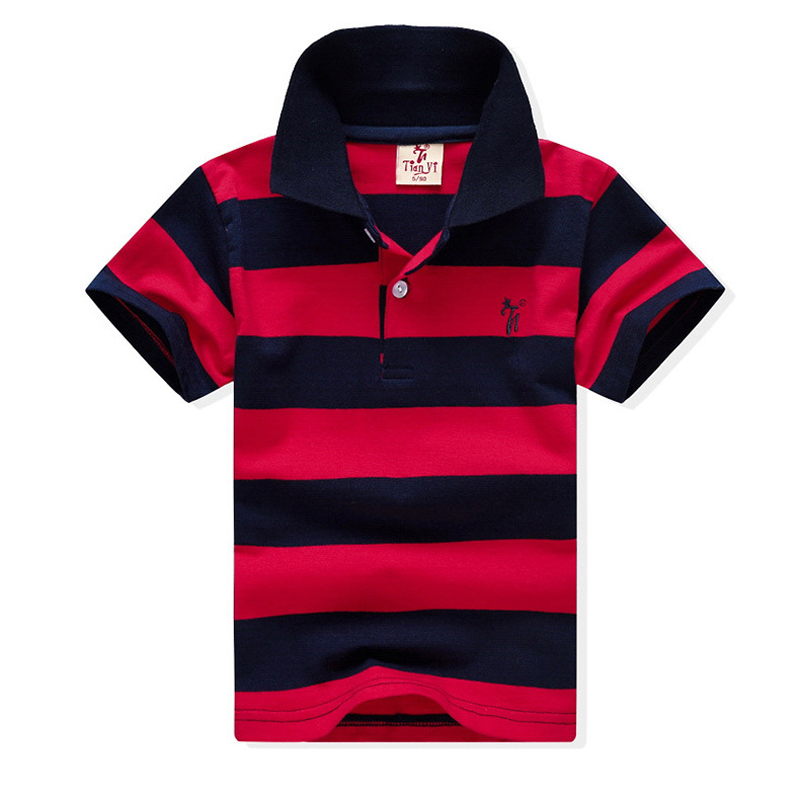 1-12Yrs Baby Boys Short Sleeve T Shirt Top Tee New 2018 Summer Lovely Cotton Kids Tops Striped Polo Shirt Tops Tees Boys Clothes стоимость