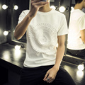 2016 Лето Марка Одежды Мужчины 3D майка Хип-Хоп Фитнес Т рубашка Homme Черный Белый 4XL 5XL Плюс Размер Мода футболка Мужчины