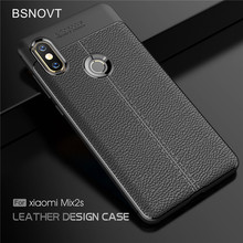 For Xiaomi Mi Mix 2S Case Soft Silicone Luxury PU Leather Shockproof Cover BSNOVT