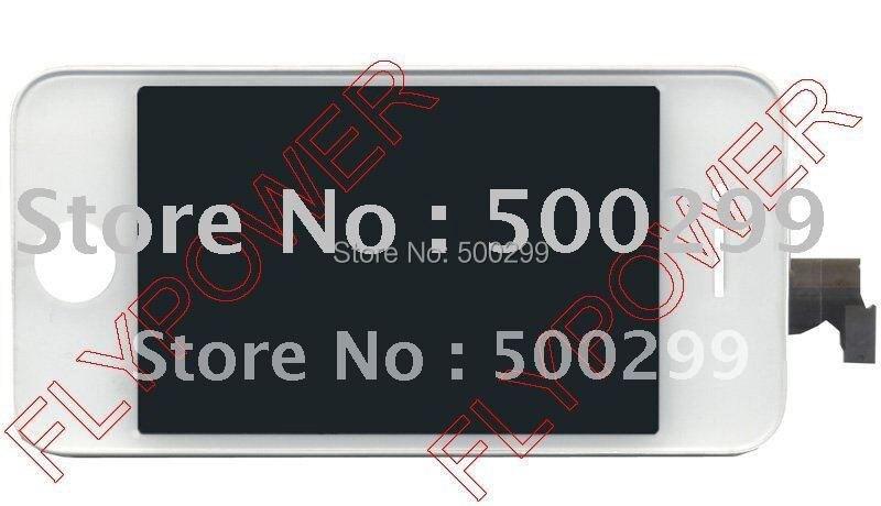 100% nuevo teléfono móvil LCD para el iphone 4 4 G LCD con pantalla táctil + fra