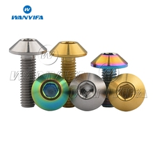 Wanyifa Titanium Bolt Screw M6x12 15 20mm Hexagon Umbrella Head for Bicycle Brake 3 Colors