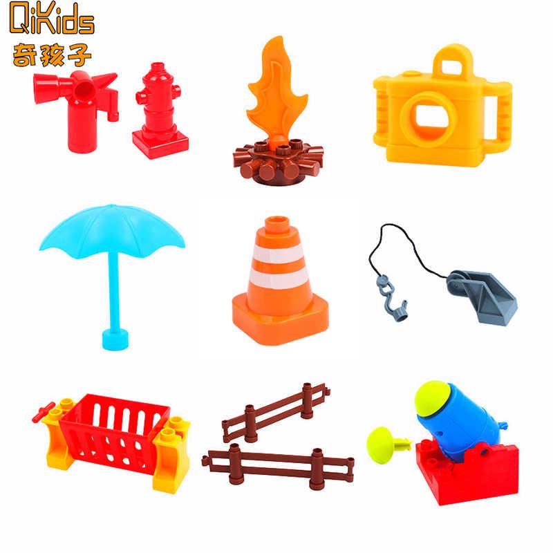 Accesorios de bloques de construcción de bricolaje Compatible de la marca de la Cámara de la maleta de fuego