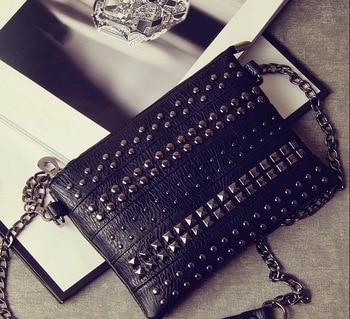 black rivet women shoulder bags female women messenger bags crossbody bags for women leather handbags stud purses and handbags