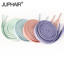 JUP 1 Pair Flat Canvas Shoe Laces Top Quality Casual Chromatic Colorful Shoelace Gradient Shoelaces Colored Arc-In-Gradient