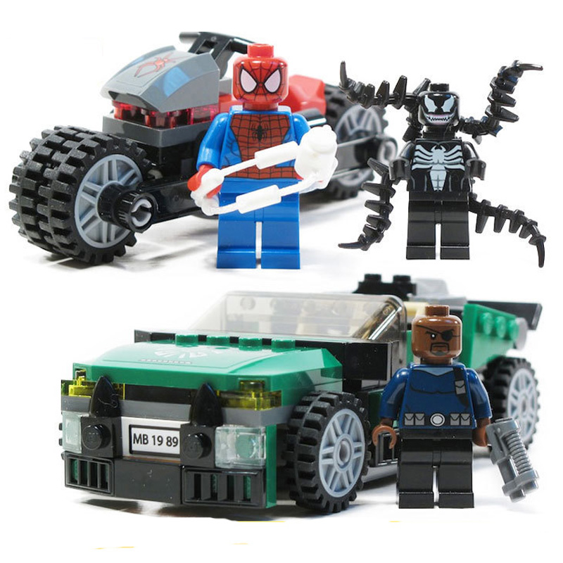 2019 New Superheroes Avengers 4 Spiderman Venom Chase Compatible Marvel Endgame Figures Building Blocks 76004