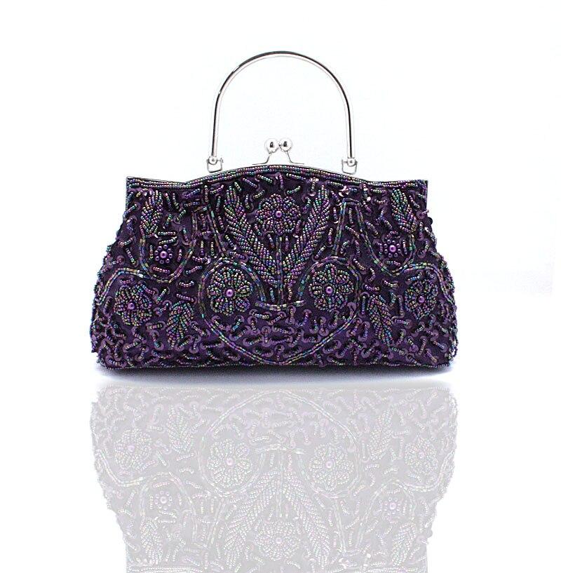 Mujer con cuentas bolso de embrague del bolso de tarde de las señoras vestido