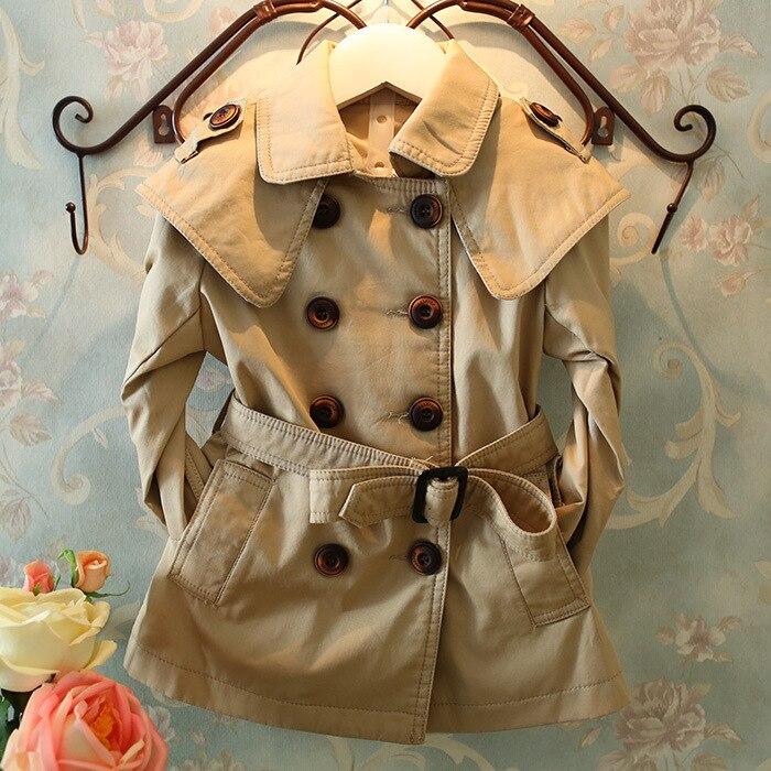 Ordentlich 100% Baumwolle Marke Mädchen Graben Mäntel Zweireiher Kinder Windjacke Für Mädchen 2-7 Jahre Kinder Kleinkind Baby Mädchen Oberbekleidung
