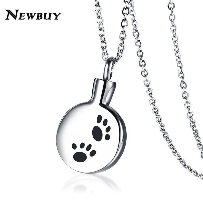 NEWBUY High Quality Stainless Steel Perfume Bottle Pendant Necklace For Women Men Animal Ashes Bottle Necklace