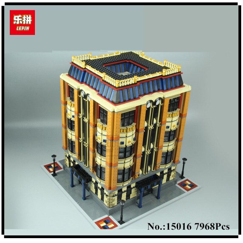 В наличии 7968 шт. Лепин 15016 натуральная MOC серии Apple Университет набор строительные блоки кирпичи развивающие детские игрушки подарки