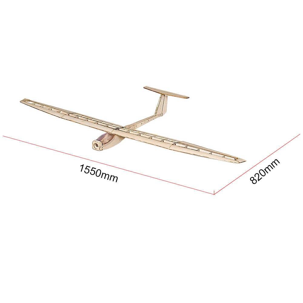Крылья для танцев хобби F1504 Balsa RC самолет планер 1550 мм размах крыльев самолет DIY комплект с бесщеточный двигатель esc сервопривод