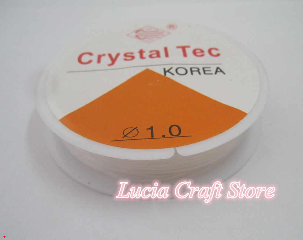 Lucia crafts 10 м/рулон прозрачный эластичный шнур для бисероплетения/нить 0,6/0,8/1 мм I0209