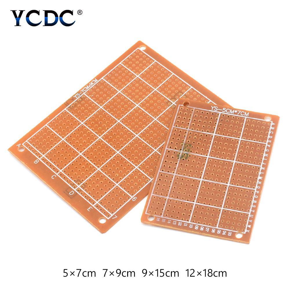 цена на Prototype PCB Printed Circuit Board For DIY Electronic Test 4 Sizes Mix 80Pcs side prototype PCB printed circuit board
