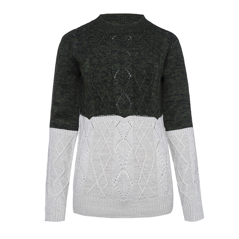 Sisjuly Women S Sweater Color Clock O Neck Long Sleeve Loose Pullovers Black White Casual Girl
