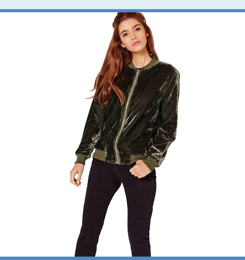 52c5400fdcc Detail Feedback Questions about Mutevole Women Zipper Velvet Coat ...
