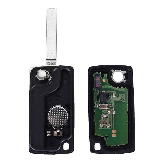Chiave Telecomando  Peugeot 307 407 308 607 433MHz Electronic ID46 Chip VA2 Blade CE0536  3 Tasti 3