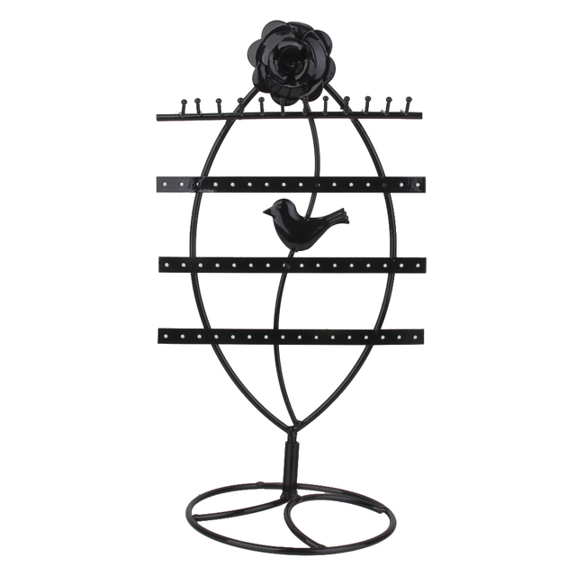 c28b48b15 Retail Metal Earrings Necklace Jewelry Display Stand Organizer Holder Black