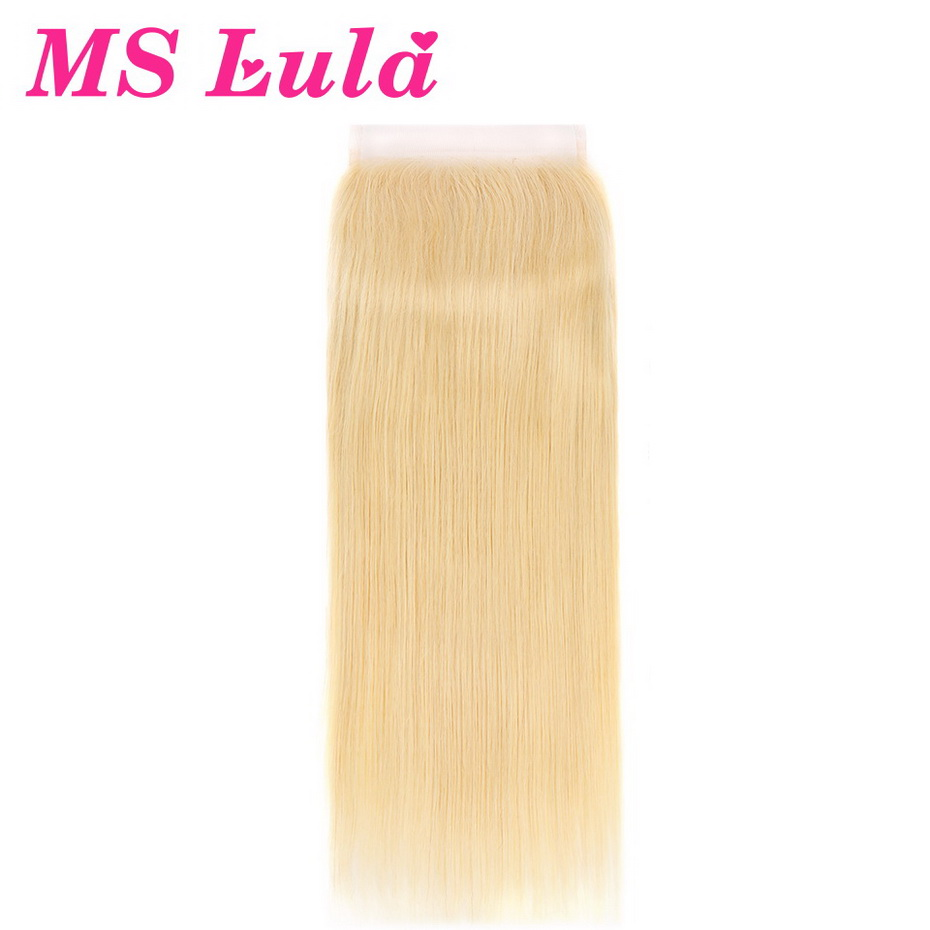 MS Lula Hair 613 6x6 Straight Lace Closure Brazilian Remy Hair With Baby Hair Human Hair