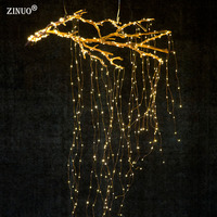 ZINUO 20X2M 400 LED Fairy String Lights DC12V Super Soft Flexible Strip DC5 5X2 1MM Outdoor