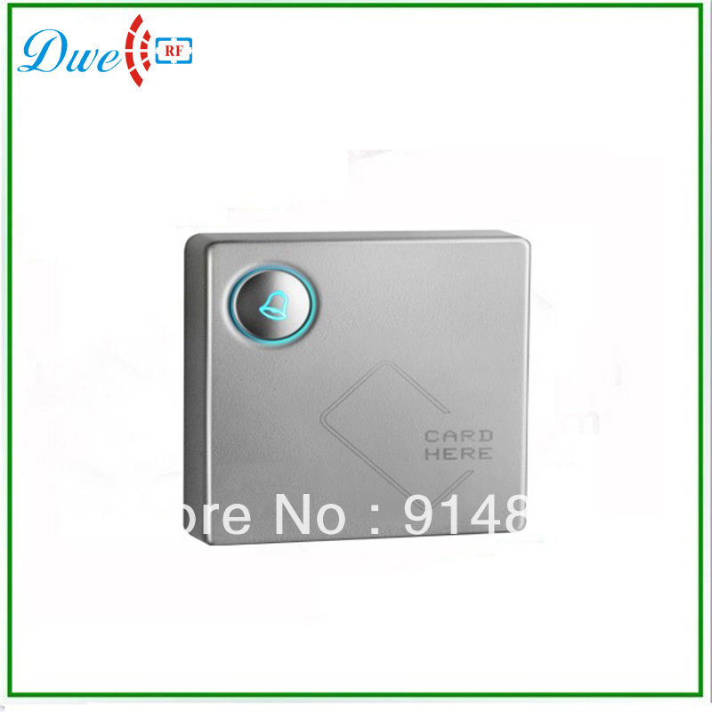 High class 125khz EM-ID door access control proximity smart card wiegand 26 output rfid reader with door bell button home security door proximity access control system 125khz rfic smart id card reader wiegand 26 34 em4100 sensor carea cr 3065d