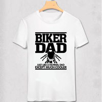 Biker Dad Mens Funny Motorcycle T Shirt Christmas Gift For Dad Cool Men T Shirt Fashion