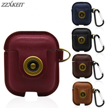 1PC PU Leather Case For AirPods Anti-scratch Proof Protective Cover Skin for iPhone Apple Charging Wireless Earphone Case