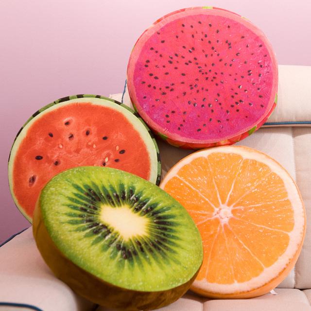 Realistic fruit soft cushion