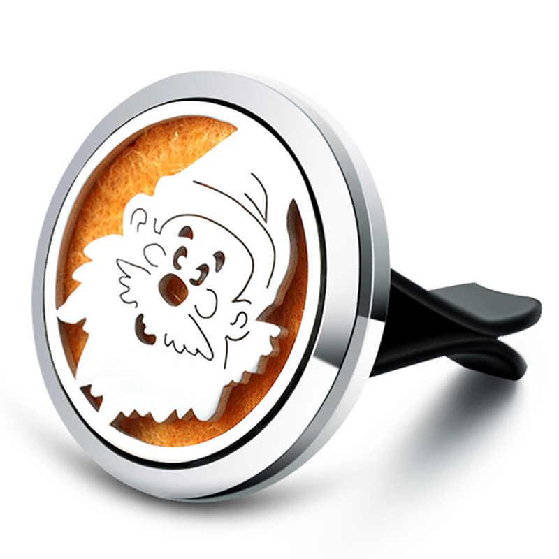Santa Claus Aroma Diffuser สแตนเลส Car Air Freshener น้ำหอม Essential Oil Diffuser Locket จี้เครื่องประดับ