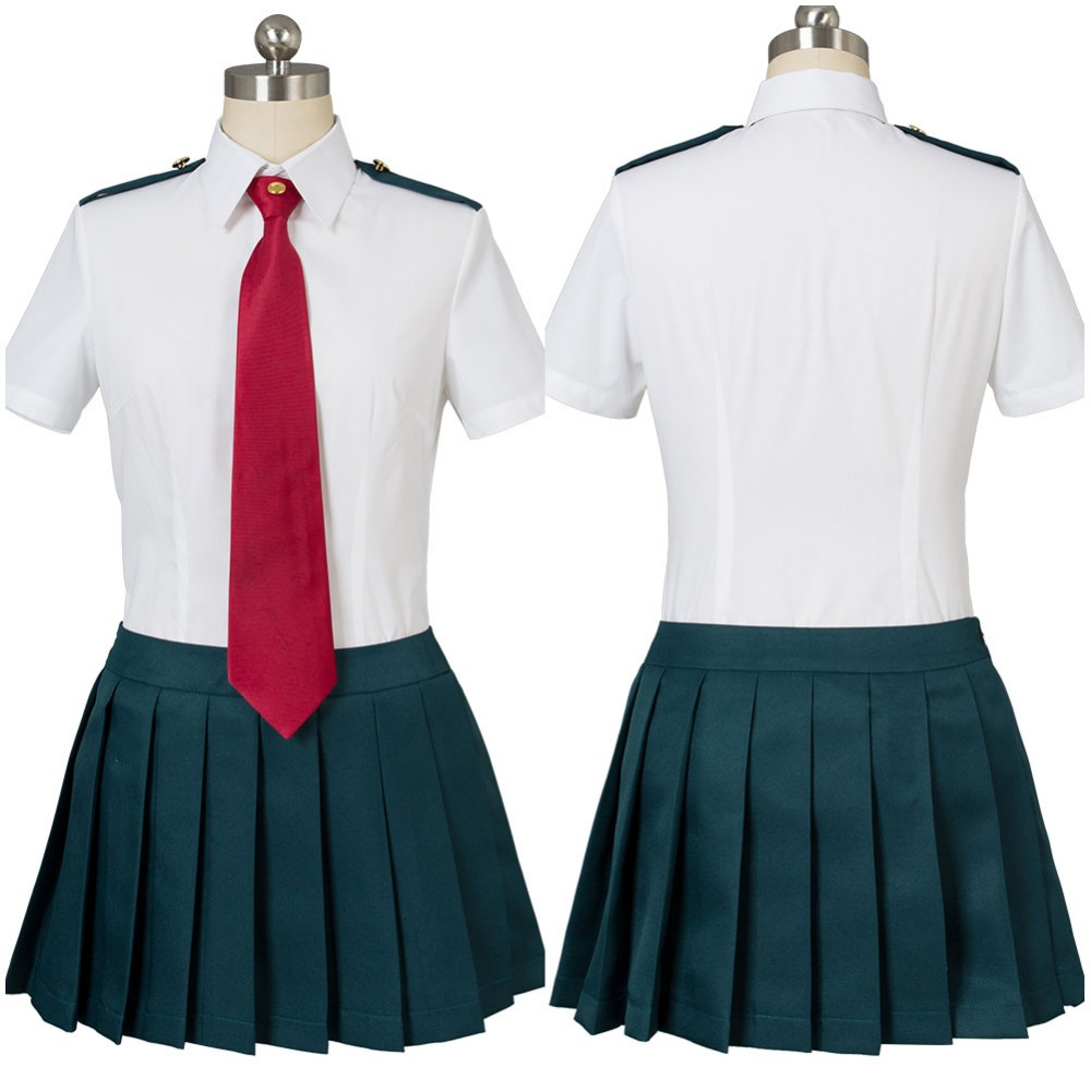 Boku no Hero Academia My Hero Academia Ochako Uraraka Tsuyu Asui Summer Uniform Dress Cosplay Costume Full Sets