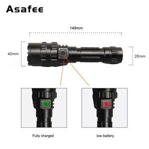Image 2 - Asafee BC02 led 戦術的な懐中電灯超高輝度の usb 充電式防水スカウトライトトーチ狩猟ライト 5 モード 1*18650