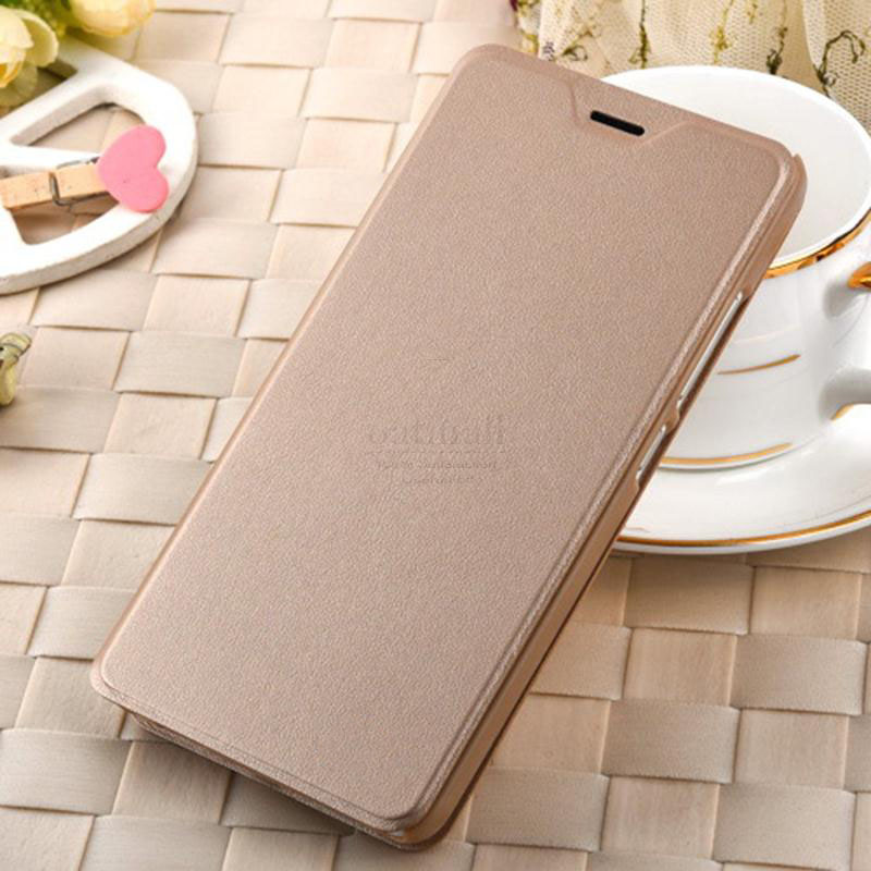 free shipping a6886 961fc Luxury PU Leather Smart Flip Cover For Xiaomi Redmi Note 4 Pro Case ...