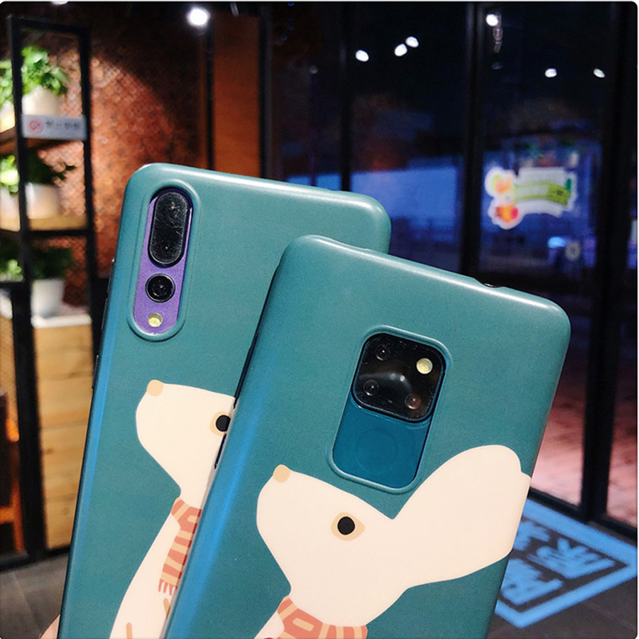 cute rabbit strap tpu phone case for huawei mate 20 10 pro P30 20 pro nova 4 3 3i honor 10 cartoon patterned soft back cover cap in Fitted Cases from Cellphones Telecommunications