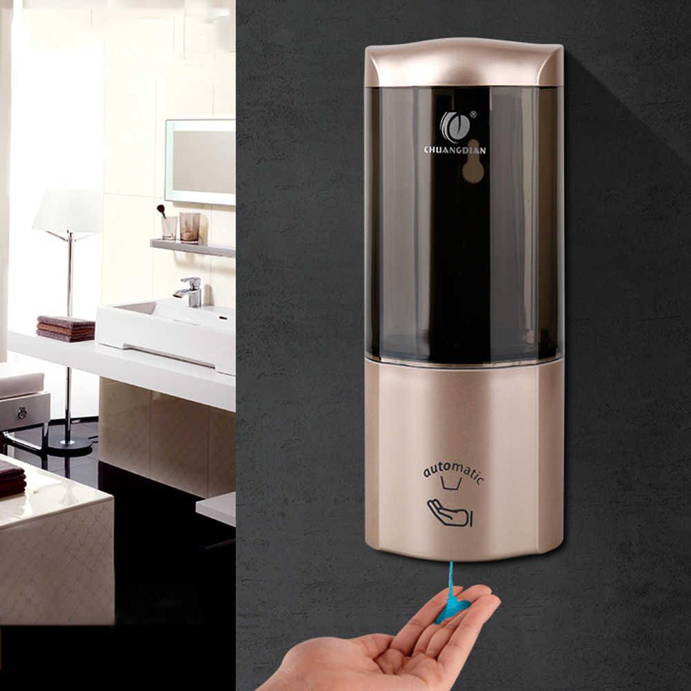 CHUANGDIAN 500 ml do montażu na ścianie pojedyncze butelki automatyczny dozownik mydła czujnik IR szampon Box toaleta toaleta