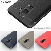 For Phone Case Samsung Galaxy J8 2018 Luxury Rubber for Cover A6 Plus