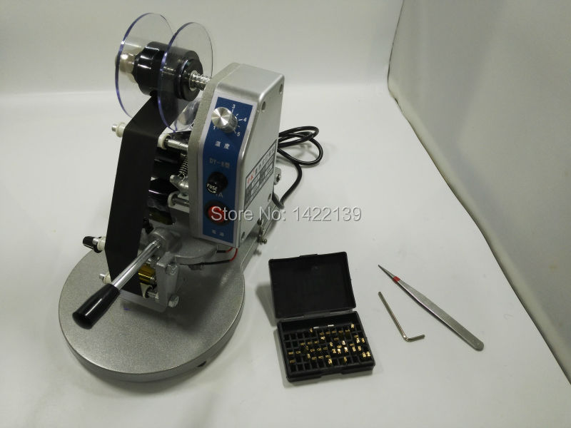 Manual Hand Operated Hot Stamp Printer coding Machine date Ribbon coder 110V / 220V semi automatic electric hot stamp ribbon coding printer machine coder hp 241b