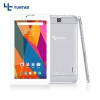 YUNTAB E706 em liga de prata de 7 polegadas Android Tablet PC Quad Core 1 GB 8 GB tela de toque 1024x600 Suporte de Câmera dupla Do Cartão Sim