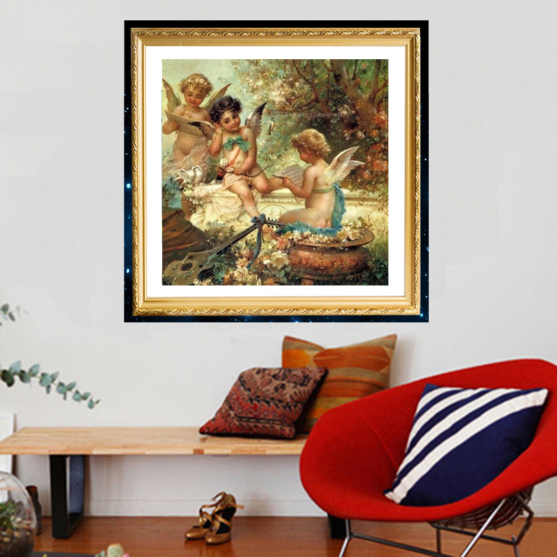 2018 Direct Selling Hot Sale Europe Diy Diamond Painting Cross Stitch Needlework Home Decoration Embroidery Angles 40*40cm