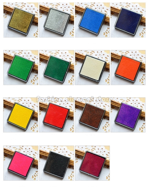 Mini Stamp Ink Pad For Craft Rubber Stamps Paper Wood Fabric Oil Based Colors