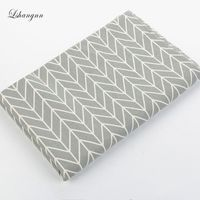 NEW 50 150cm Printed Geometric Series Sewing Upholstery Cotton Linen Cloth Blend Fabric DIY Handmade Home