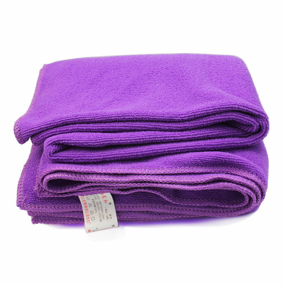 Multi-function 1x Microfiber Large Bath Beach Towels Soft Quick Dry Hotel Cleaning Hand Hair Bath Gym Swimming Washcloth Purple