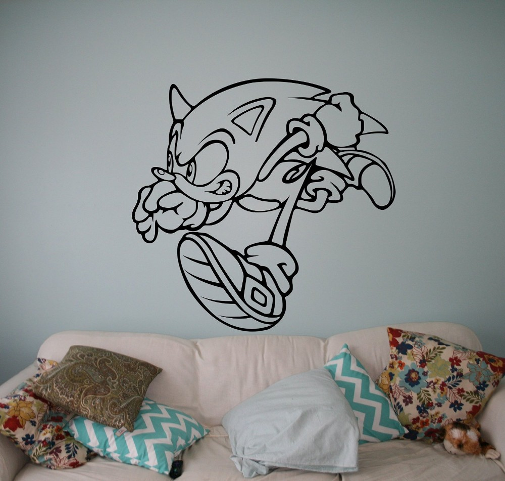 Https Www Aliexpress Com Store Product Sonic Vinyl Decal Sonic Hedgehog Wall Vinyl Sticker Video Game Cartoons Home Interior C Aliexpress Com Aliexpress Store Aliexpress