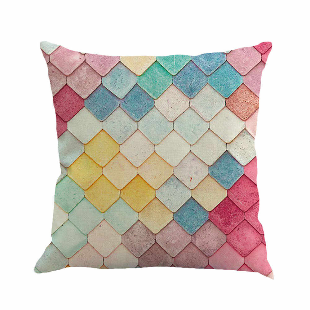 Gajjar Pillow 45*45 Geometry Painting Linen Throw Pillow decorative pillows print  Dropshipping