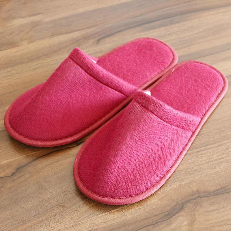 ทิ้งรองเท้าแตะชายและหญิงรองเท้าแตะโรงแรมรองเท้าแตะแผนกต้อนรับรองเท้าผู้หญิงแบบพกพารองเท้าผู้ชาย $1