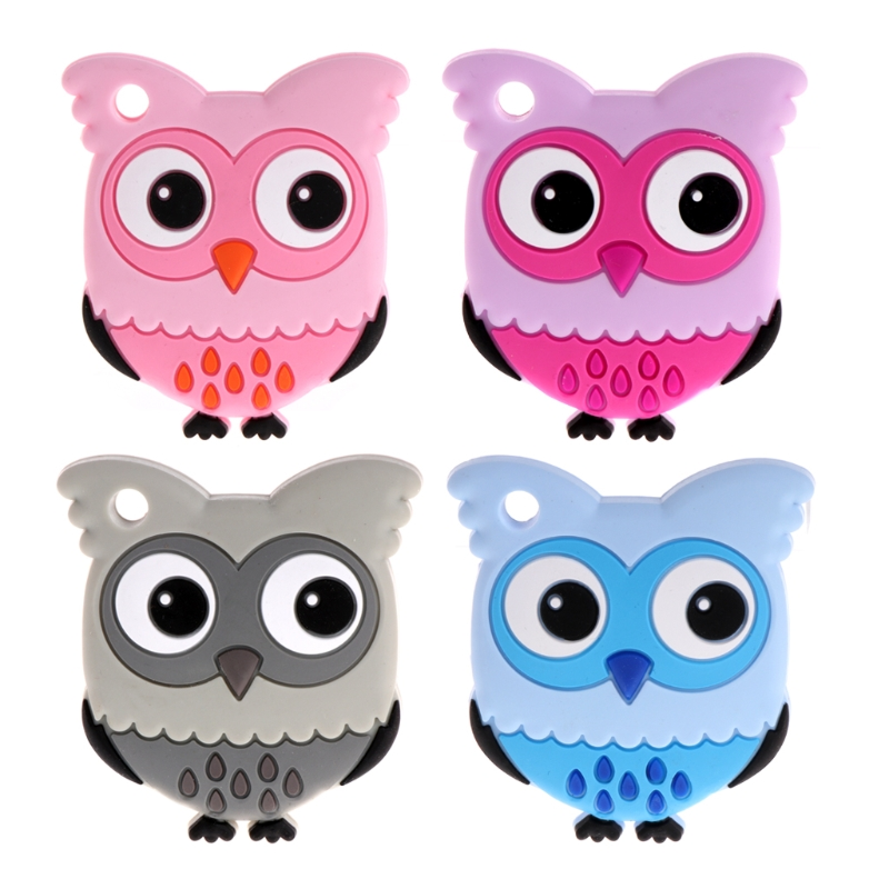 Safety Food Grade Silicone Owl Baby Teething Chew Toy Teether Grind Babys Teeth цена 2017