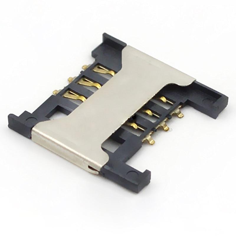 10pcs-100pcs SIM Flip Cover Card Holder 1.8H / Mobile Phone SIM Card Jack Clamshell Mobile Phone Digital Connector