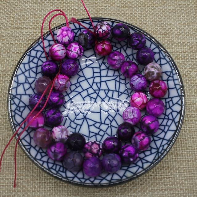 Граненые круглые розово красные огненные Агаты бусины из натурального