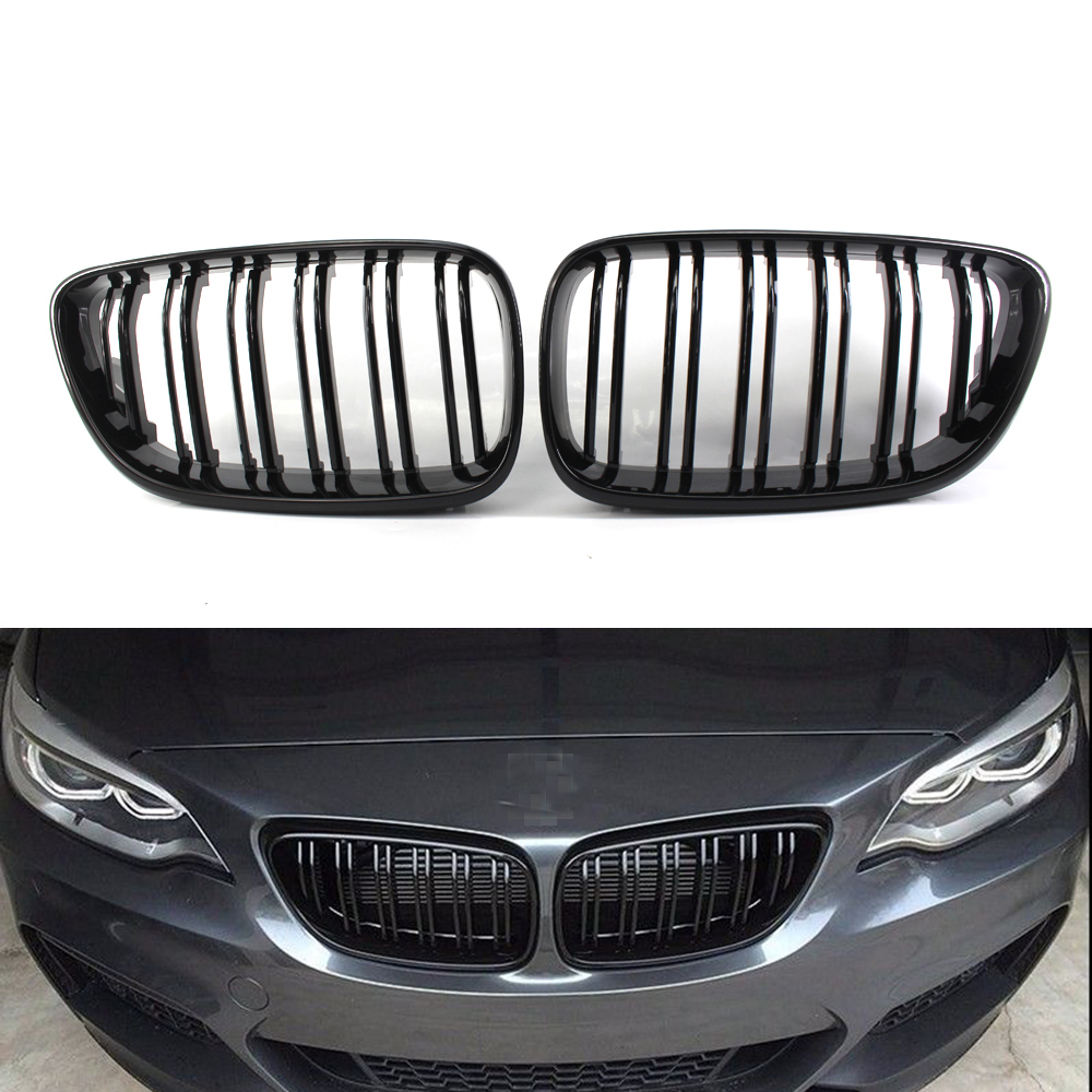 For BMW 2 Series F22 F23 2014 2018 Racing Grills Car Front Hood Kidney Grille Decoration