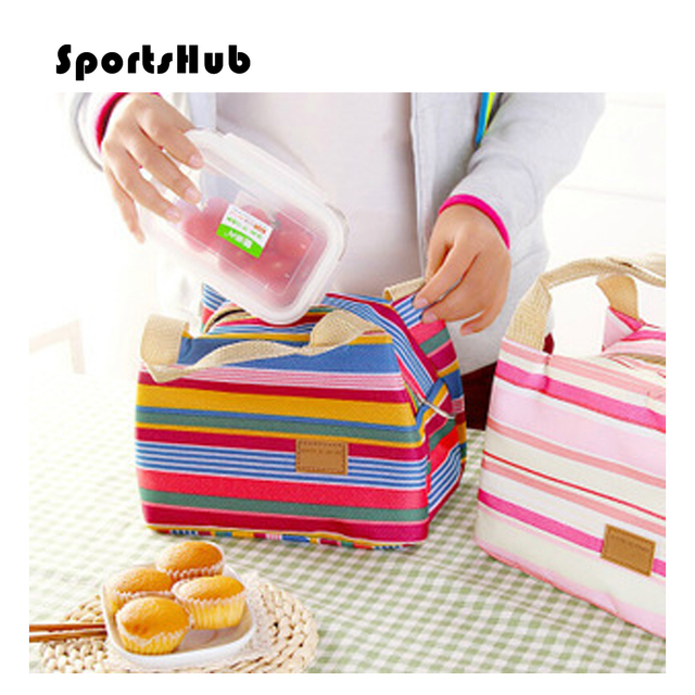 SPORTSHUB Ultra-light Thermal Lunch Picnic Bag Insulated Cooler Ice Bag Lunch Box Warmer Camping Kit Hand Lunch Pouch NR0081